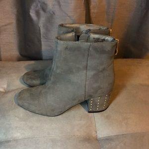 New Look Gray Heeled Booties